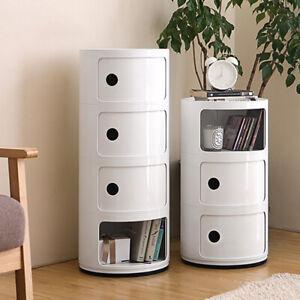 2/3/4 Drawer Bathroom Cabinet Plastic Cupboard Corner Storage Sideboard Cylinder