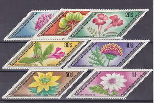mongolia 1975 Sc 834/40 flower,set MNH       s304