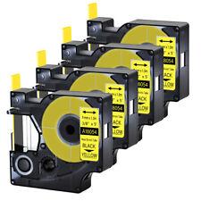 4pk For Dymo Rhino 42005200 Heat Shrink Tube 18054 Industry Label Tape 38x5