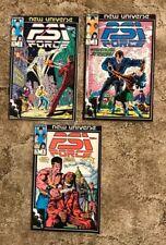 PSI Force #2, 5, 6,13,16,20 & 21 Marvel Comics New Universe 1986