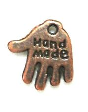 """15Pcs. Tibetan Antique Copper """"HANDMADE"""" Hand Charms Tags Jewelry Findings MB02"""