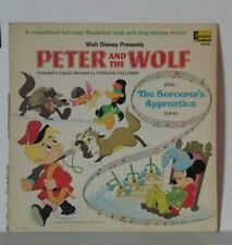 Disney Peter and the Wolf plus Sorcerer's Apprentice 1969 book only vintage