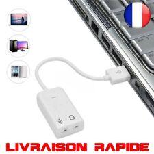 2.0 Virtuel 7.1 Canaux Externe USB Audio Carte Son Adaptateur PC Ordinateur Tel