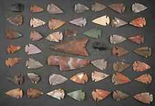 """47 PC Flint Arrowhead Ohio Collection Points 1-3"""" Spear Bow Stone Hunting 400"""