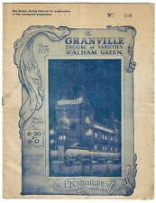 1933 The Great Desmond magic Granville Theatre Walham Green variety programme