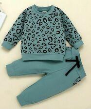 Leopard Prints Top Plus Pants Children Clothing Baby Girls Sets Autumn Kids Boys