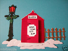 8 x GARDEN SHED SANTA'S GROTTO CHRISTMAS die cuts for card toppers card making