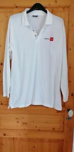 tee shirt publicitaire Caisse d'Epargne fréquence clien XL blanc manches longues