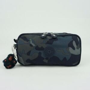 KIPLING CHAP Pen Case Pouch Cosmetic Bag Cool Camo