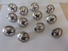 12-Texas Western Star Kitchen Cabinet Knob Drawer Pull Handle Satin Nickel