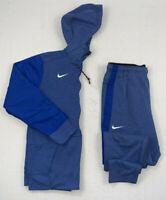 nike dri fit men's sideline warm up travel hoodie jacket + pants set sz medium