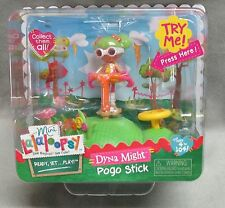 NEW Mini Lalaloopsy Doll Ember Dyna Might Pogo Stick Action Playset NIP