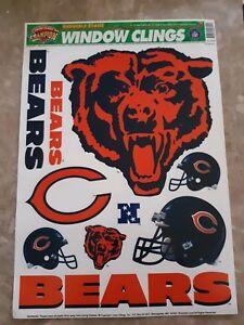 Chicago Bears Window Clings Reusable Static Champion Series Football Decor