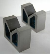 "Pair of Cast Iron Vee V Blocks 3"" - High Quality Precision Ground"