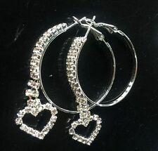 Accessories cool fashion 4cm  Tassel heart rhinestone circle earring party queen