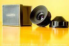 Kinoptik 12.5mm f/1.5 original kinoptik PL housing !!!! [Super 16mm]