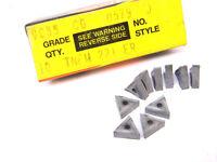 10 NEW SURPLUS VALENITE TNFM 221-ER GRADE VC55 Carbide Inserts