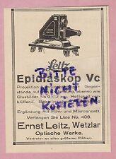 1925, Ernst Leitz optical works LEICA WETZLAR Epidiascope VC projection