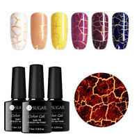 UR SUGAR 7.5ml Crackle Gel Polish Soak Off UV Gel Colors Nail Art Gel s