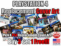 PS4 PlayStation 4 Replacement Game Cover Art Box Art