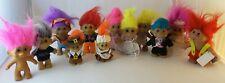 "Large Lot of 12 Troll dolls, TNT 1991, DAM 2005, RUSS, 4"" & 6"", Pilgrims, old"