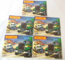 1J Set Of 5 Copies Matchbox Collector's Catalog 1982/83 Diecast Cars England