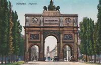 Einmalig schöne antike Ansichtskarte um 1900 München Siegestor Künstlerkarte