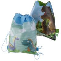 Sac de rangement de voyage de sac de tirage de dinosaure, sac à dos d'école