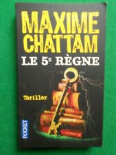 LE 5E REGNE MAXIME CHATTAM POCKET 12248 THRILLER TERREUR FANTASTIQUE