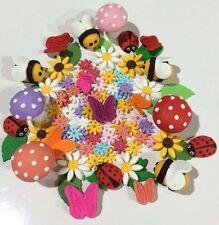 Fairy Garden Theme Edible Cake Toppers Set -60 Pieces