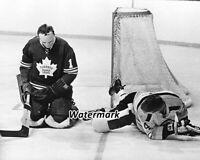 NHL  Boston Bruins Bobby Orr vs Toronto Maple Leafs Johnny Bower 8 X 10 Photo