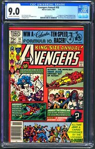 AVENGERS ANNUAL #10 - CGC 9.0 OW/WP - VF/NM - NEWSSTAND - 1ST ROGUE X-MEN
