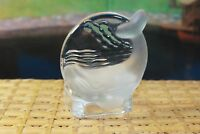 Retired Partylite Tealight Candle Holder Frosted and Clear Glass