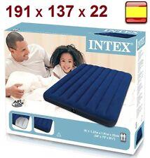 Colchón hinchable Matrimonial 191 X 137 X 22 cm INTEX Inflable Cama 2 personas