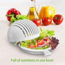 60 Seconds new Salad Maker Bowl Cutter Slicer Tool Make Fruit Vegetable Salad