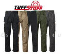 Mens Combat Work Trousers Tuffstuff Quality Combat Cargo Style Knee Pad Pocket
