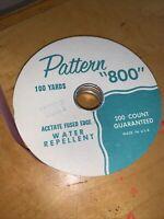 """AFMC Vintage PATTERN """"800"""" RIBBON Lavender  ACETATE Fused Edge  Used P4"""