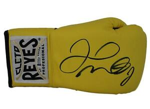 Floyd Mayweather Jr Signed Cleto Reyes Yellow Right Hand Boxing Glove BAS 24960