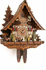 cuckoo clock hettich black forest 8 day original german  wood chopper new