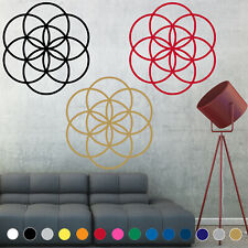 Sacred Geometry Decal Sticker Flower Of Life 6 circles Wall Art Room House Decor