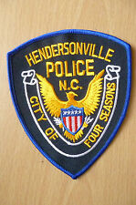 Patches: HENDERSONVILLE CITY OF FOUR SEASONS POLICE PATCH (NEW, apx5x4 inch)