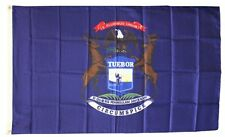 Michigan State Flag 3 x 5 Foot Flag - New 3x5 Indoor Or Outdoor =