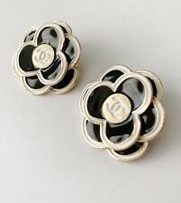 2 Chanel Black Camellia 32mm Buttons