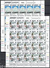 Jersey vellen 612-614 Europa CEPT 1993 Moderne kunst CW € 60