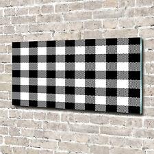 Glas-Bild Wandbilder Druck auf Glas 140x70 Deko Sonstige Schwarzweiß-Gitter
