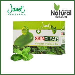 Herbal Soap Janet Skin Clear Medicated Treatment Bar 100% Natural Body Care 75g