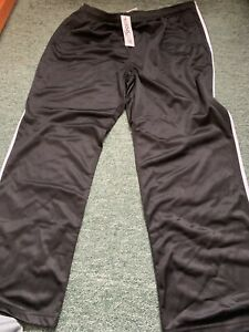Two Nylon Track Pants Blue And Black With Tags