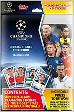 2016-17 TOPPS CHAMPIONS LEAGUE STICKERS STARTER PACK ALBUM + 39 STICKERS