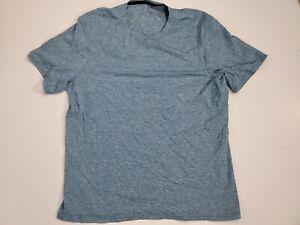 Lululemon Men's Medium Athletic Workout Gym Yoga Short Sleeve Light Blu T-shirt