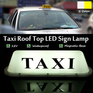 12V Waterproof LED Light Lamp Taxi Cab Roof Top Sign Topper Shell Magnetic